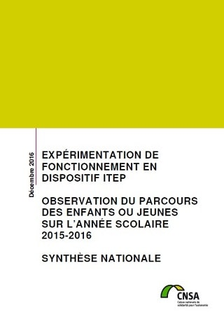 CNSA Experimentation fonctionnement dispositif ITEP