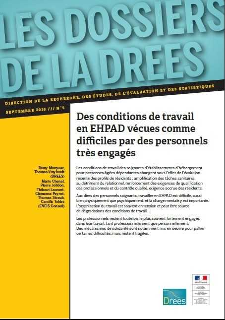 DREES conditions de travail en EHPAD