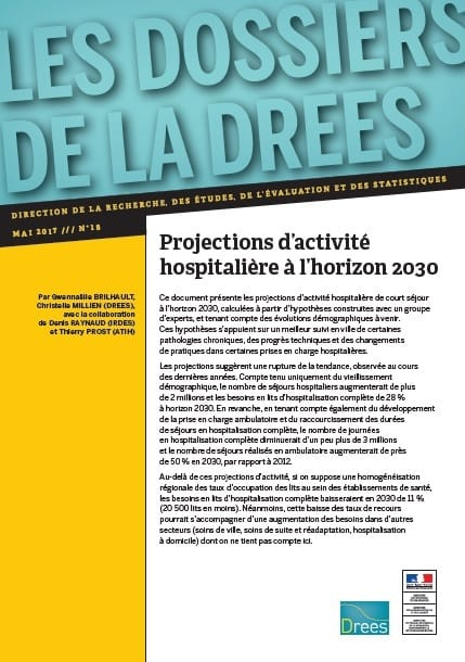 Drees projections activite hospitaliere 2030