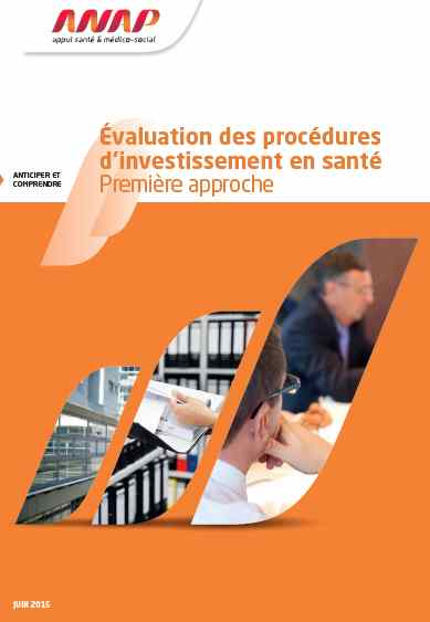 Evaluation des procedures d investissement en sante