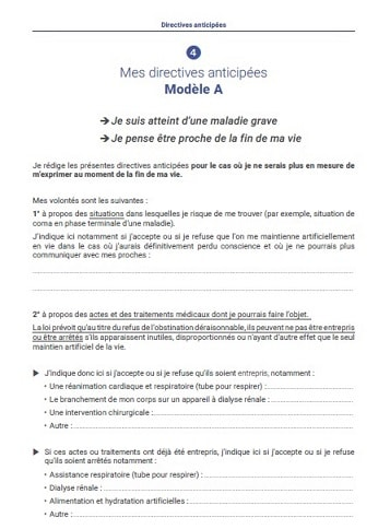 modele directives anticipees